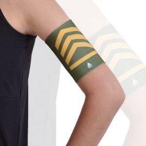 Dia-Band armband beschermt diabetes-sensor of pod